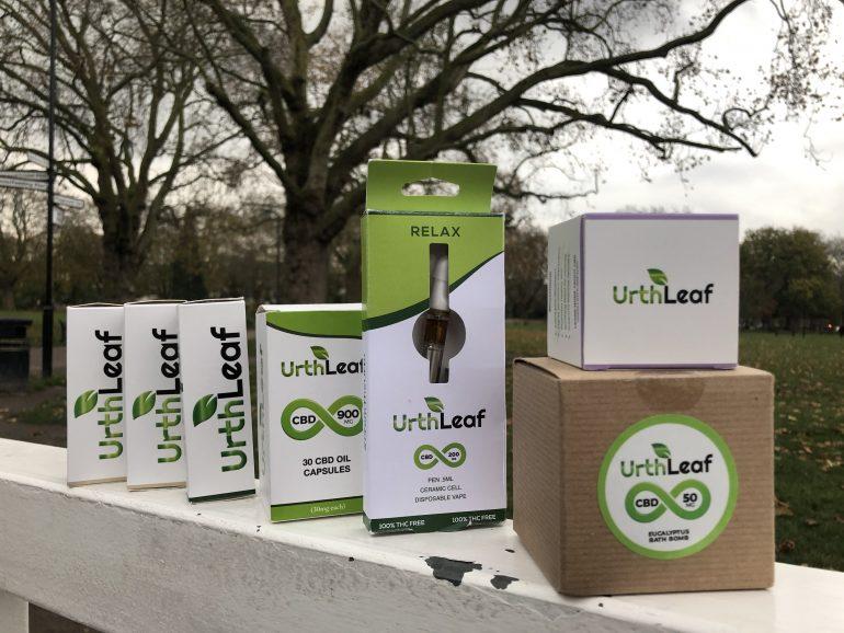 UrthLeaf CBD Products review: UrthLeaf CBD Vape Pen, CBD Hemp Healing Salve, CBD Hemp Oil Tincture, CBD Gel Capsules and Eucalyptus CBD Bath Bomb.